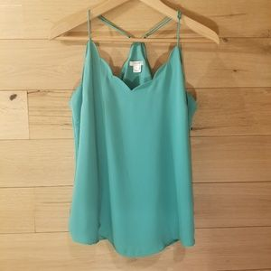 J. Crew Scalloped Cami
